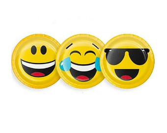 Emoji Party Paper Plates -Small | Emoji Birthday Party Paper Plates Emoji Party Supplies Birthday Emoji Party Emoji Emoticon Emojis