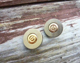 3 vintage french buttons, Chanel style buttons, jacket buttons, coat buttons, gold colour buttons, unusual style buttons, boutons Chanel