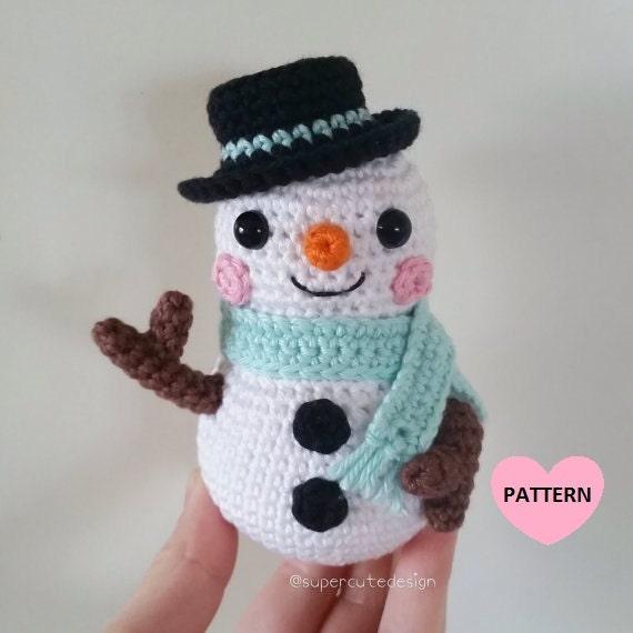 Amigurumi Snowman Ornament : Snowman PDF PATTERN amigurumi crochet