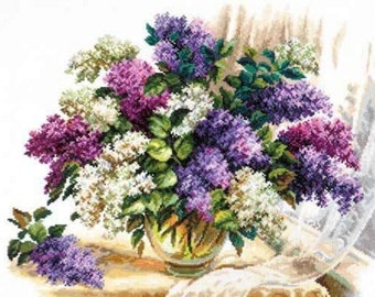 Cross Stitch Kit by by Wonderful Needle - FRAGRANCE OF LILACS