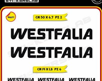 Stickers kit camper caravan roulotte WESTFALIA Vinyl Decal Pegatinas Adesivos Cod.0059