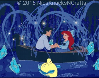 Ariel's First Date Cross Stitch Pattern