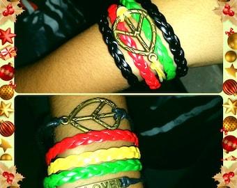 Two Rasta bracelets
