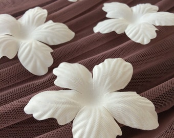 Ivory bridal fabric flowers, bridal fabric, flowers, hair pins, hair accessories, bridal accessories, wedding accessories