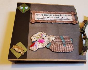 Fishing Premade Mini Scrapbook Album