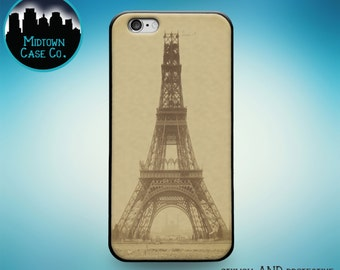 Eiffel Tower Old Vintage Photograph Paris Rubber Case for iPhone 6S, iPhone 6S Plus, iPhone 6, iPhone 6 Plus, iPhone 5S, iPhone 5, iPhone 5C