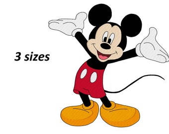 mickey mouse disney machine embroidery design, design for kids, fill embroidery design, instant download, 3 sizes