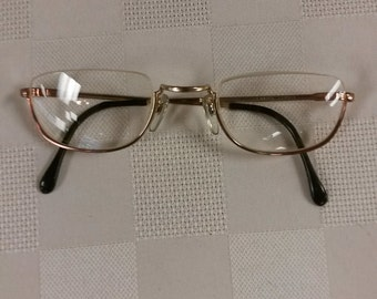 Vintage Half-eye Reading Glasses w/ Bifocal Lenses; +1.25 over +2.75. Excellent Condition; Great for Computer Glasses