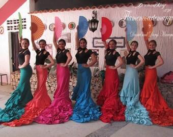 skirt long tail flamenco dance