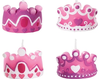 Princess Birthday Candle, Crown Birthday Candle, Birthday Party, Birthday Cake Candles, Cake Candle, Priness Theme, Princess Party, 4 pc