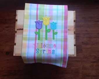 Spring hand towel