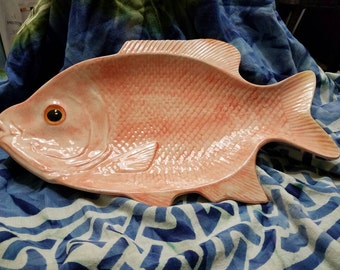 "Huge 17""x10.5""Serving platter. Red Snapper. Hand made."