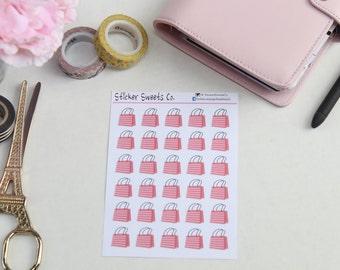 Pink Stripe Shopper Bags