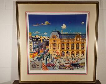 Gare St. Lazare by Hiro Yamagata, Serigraph SNP (66/295)