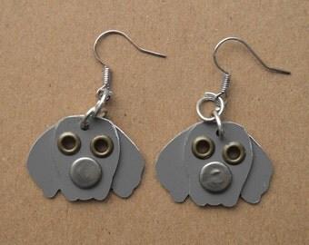 Weimaraner Pet Lover Dog Metal Earrings Jewelry