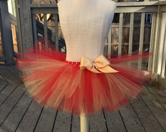 Valentine's tutu. Red and gold tutu. Basic Baby tutu, baby shower gift, photo props. Pick any colors!!! As many colors as you like!!!