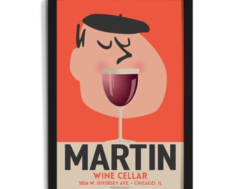 Wine Mouth Personalized Art (Medium)