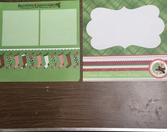 Seasons greeting premade 12x12 scrapbook pages