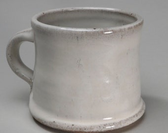 Cream Colored Mug - Cone 10 reduction fired, wheel thrown and trimmed, glaze on bottom, simple and elegant