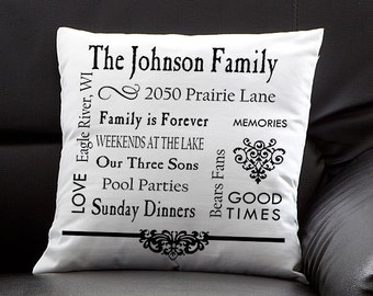 Our Family Personalized Keepsake Pillow