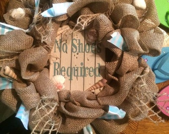 No Shoes Required Wreath
