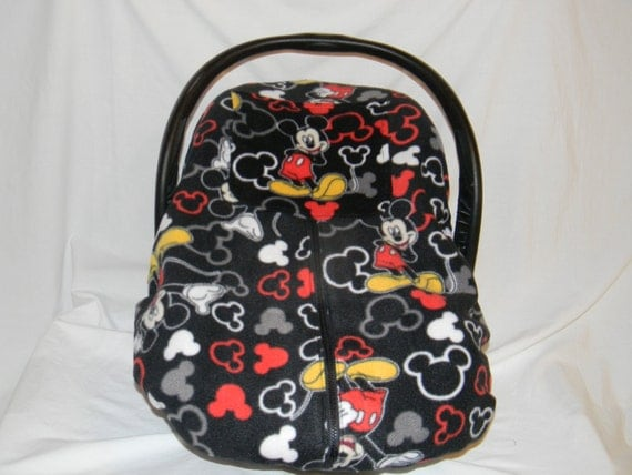 mickey mouse polar fleece print winter warm infant car seat. Black Bedroom Furniture Sets. Home Design Ideas