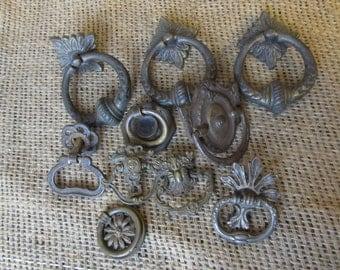 Vintage  Antique Hardware , Drawer Pulls, Drawer Rings