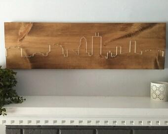 Jacksonville Skyline, living room wall art, dining room wall art, bedroom wall art, modern wall art, minimalist wall art, housewarming gift