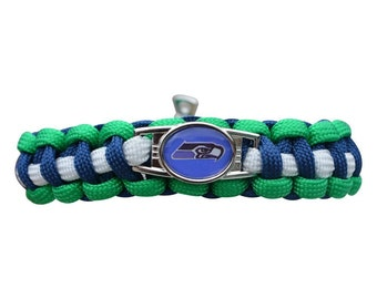 Seattle Seahawks Paracord Jewelry - Seattle Seahawks Paracord Bracelet - Perfect Football Gift!!!