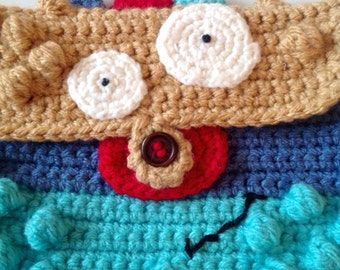 Crocheted monster ipad cover, monster ipad case, ipad case, ipad cover