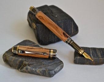 Bethlehem Olive Wood Fountain Pen, Wooden Fountain Pen