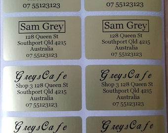 200 Mixed Colour Personalised Name / Address Labels - Ex Large (45*25mm) Labels