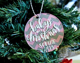 Baby First Christmas Ornament / Baby's 1st Christmas Ornament / Personalized Christmas Ornament / Christmas Ornament Ideas /