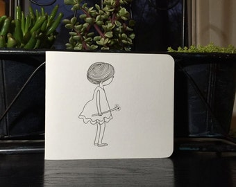 Set of 5: Alone but never lonely cards