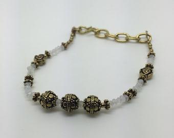 garnet bracelet,moonstone bracelet,amethyst bracelet,beads bracelet,stone beads bracelet,gemstone bracelet,brass bracelet,gypsy,boho chic