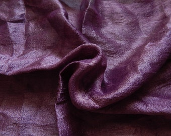 Pure Silk Fabric, Pure Dupioni Silk Fabric, Silk Fabric, Indian Silk Fabric, Lavender Silk Fabric