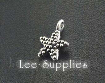 30pcs Antique Silver Alloy Starfish Charms Pendant A1505