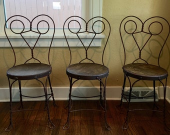 Vintage Bistro Chairs Vintage Ice Cream Chairs Vintage Chairs