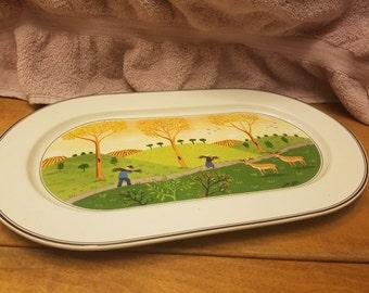 """Villeroy Baoch Design Naif 15"""" oval platter"""