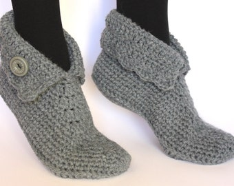 Crochet wool slippers / Wool slippers / house shoes / Elf slippers / Crocheted slippers / knitted slippers / socks