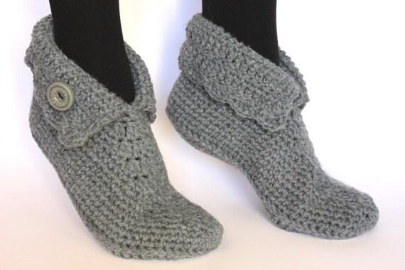 Häkeln Wolle Hausschuhe / Wolle Hausschuhe / Haus Schuhe / Elf