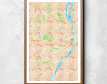Map of St. Louis | St. Louis | St. Louis Art | St. Louis Map | St. Louis Print | St. Louis Decor | St. Louis Gift