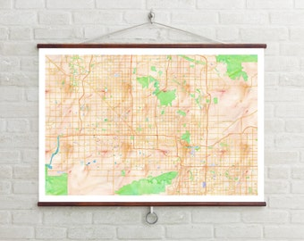 Map of Phoenix | Phoenix | Phoenix Art | Phoenix Map | Phoenix Print | Phoenix Decor | Phoenix Gift