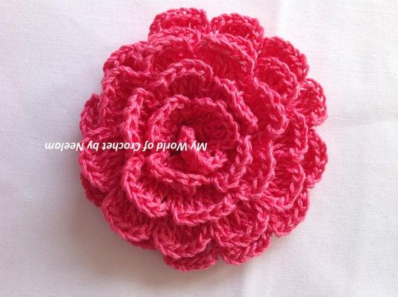 Crochet Rose Pattern Step By Step : Easy crochet flower pattern rose crochet Tutorial step by