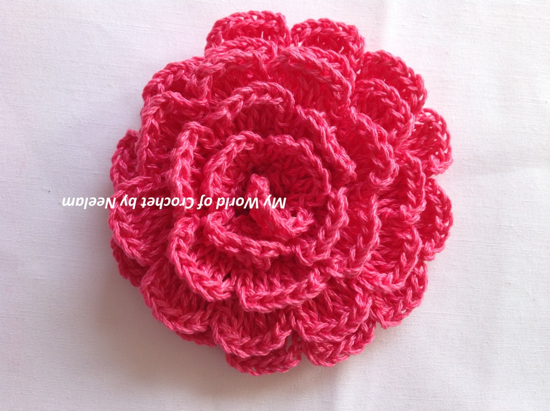 Simple Crochet Flower Pattern and Tutorial - dinocro.info