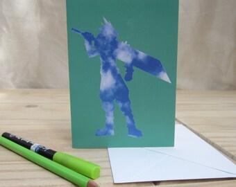 final fantasy 7 - greeting card - cloud strife