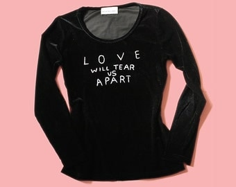 Black Velvet Joy Division Long Sleeve Shirt