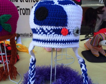 Hand-made Crochet R2-D2 Star Wars Beanie for kids