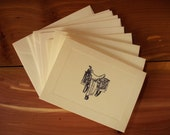 "Western ""Back In The Saddle Again"" Set of 5 Saddle Note Cards"