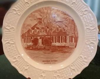 Raleigh Tavern Colonial Williamsburg/Souvenir Plate/Sepia